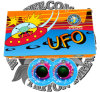 UFO with Crackling Spinner Fireworks Toy Fireworks