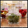 Set Kitchenware Glass Faceted Storage Jar