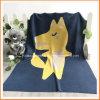 Wolf Cartoon Pattern Knitted Blanket