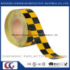 PVC Yellow and Black Chequer Reflective Safety Warning Tape (C3500-G)
