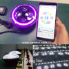 Hot APP+Bluetooth Controlled Color Changing LED Headlights Jeep Defender Hi/Low Beam DRL Halo Headlamps
