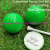 Green Color 2-Layer Rubber Surlyn Short Distance Driving Golf Ball