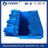 56L Blue Solid Plastic Stack Nest Retail Tote Bins