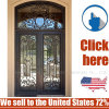 Cheap Price Steel Security Wrought Iron Door