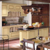 Classical Style MDF Fraxinus Mandshurica Veneer Solid Wood Door Kitchen Cabinet