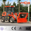 Everun Brand 1.0 Ton Small Wheel Loader with European Grapple Forks