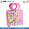 Pink Flower Paper Shopping Bag for Ladies