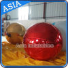 Inflatable Mirror Ball, Red Color Inflatable Advertising Mirror Ball