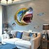 Customized PVC 3D Shark Wall Sticker Kids Room Home Decor