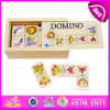 2015 Intelligence Gift for Kids Wooden Domino Animal Puzzle Toy, Educational Wooden Domino Puzzle with Box W15A023
