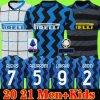 Inter Milan Soccer Jersey Eriksen Lukaku Lautaro Alexis 20 21 Perisic Skriniar GodÍ N Football Shirts 2020 2021 Uniforms Men + Kids Kit Adult