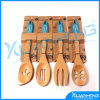 Silicone Kitchen Cooking Spoon Spatula Wooden Handle Baking