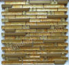 Strip Gold Diamond and Metal Mosaic Tile (SM213)