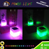 Cordless Outdoor Illuminated LED Square Flowerpot