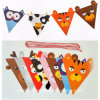 Cute Carton Printing Birthday Party Decoration Die-Cut Paper String Flag Banner / Triangle Party Decoration Flag Banner
