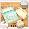 Wheat Straw Food Storage Container Set with Fork Spoon 500-700ml