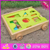 2017 Wholesale Wooden Best Building Blocks for Toddlers, Pull Car Designed Wooden Best Building Blocks for Toddlers W13c033