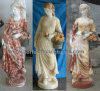 Multi Color Stone Marble Onyx Jade Lady Sculpture for Garden Decoration (SY-C1233)