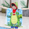 Stock Fashion 100% Polyester Microfiber Poncho and Hooded Printed Terry Towels for Bath Towel and Beach Towel
