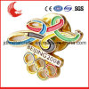 Promotional Cartoon with Safety Pin Tin Button Olympic Badge