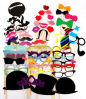 Birthday Wedding Party Supplies Funny Photo Booth Props