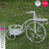 2-Tier Bicycle Plant Stand Metal Folding Garden Decor
