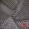 100% Polyester Black White DOT Chiffon Fabric for Dress/Blouse