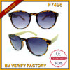 F7498 Clubmaster Retro De Soleil with Bamboo Temple Sunglasses