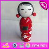2015 Wholesale Fancy Kokeshi Wood Puppet Doll, Famous Custom Wooden Puppet Doll, Wooden Japanese Puppet Doll Kimono Dolls W06D073