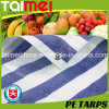 Stripped PE Tarpaulin Fabric with Customizable Colour for Fruit & Vegetable Cover & Chicken Stock Farming