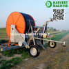 Hose Reel Sprinkler Irrigation System with Water Turbine and Gun