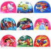 Children Cartoon Polyester Swim Cap