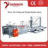 High Speed Roll-to Roll Plastic Film Folio Folding Hem and Rewinding Machine for PE HDPE LDPE PP BOPP OPP PS PVC Pet PA PVA POF Nylon