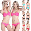Women Halter Triangle Padded Bikini Top Bottom Set Swimwear Swimsuit