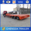 China 2 Line 4 Axles Gooseneck 40tons Low Flatbed Semi Trailer for Excavator