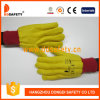 Ddsafety 2017 Golden Yellow Chore Glove Knitted Wrist Safety Gloves