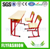 Sf-21d Middle School Furniture Double Desk and Chair Sets