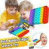 Rainbow Push Pop It Fidget Toys Silicone Fine Motor Skills Toys Logical Thinking Toys Math Toys Push  Pop Bubble Toys