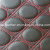 High Quality Stitch Design Microfiber Leather for Car Seat Boat Seat (HW-783)
