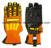 Anti Cut Oil Safety Gloves TPR Back Cut Resistant Impact Gloves