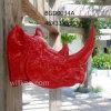 Polyresin Decorative Wall Decor Red Rhinoceros Head