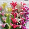 Silk Artificial Flowers Fake Lily for Home Wedding Wholesalers