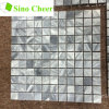 Square Italian Grey Cararra Marble Mosaic Tile Pattern