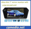 7′′ Bluetooth MP5 Car Rearview Mirror with USB, TF Card Slot, Bluetooth