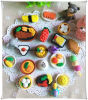 DIY Food Shape Erasers