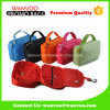 Colorful Polyester Hanging Travel Cosmetic Bag with Metal Hook