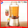 Cold Beverage Dispenser with Base and Ice Container