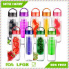 Plastic Fruit Water Bottle with Infusion