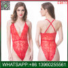 China Best Selliing Red Lace Transparent One-Piece Sexy Lingerie