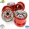 OEM CNC High Precision Machining Milling Anodizing Billet Aluminum Machined Spoke Wheel Set